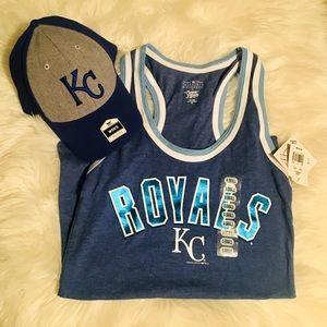 Kansas City KC Royals Hat and Tank Top MLB Bundle